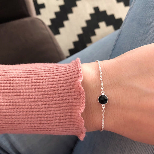 EVA MINI BLACK SILVER BRACELET