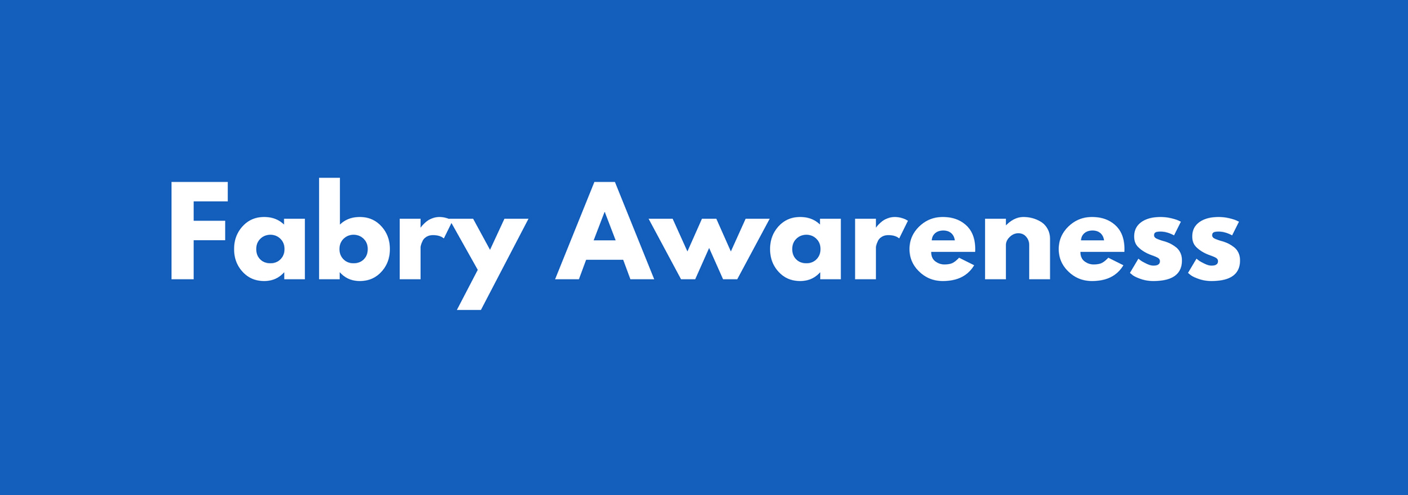 Fabry Disease Awareness