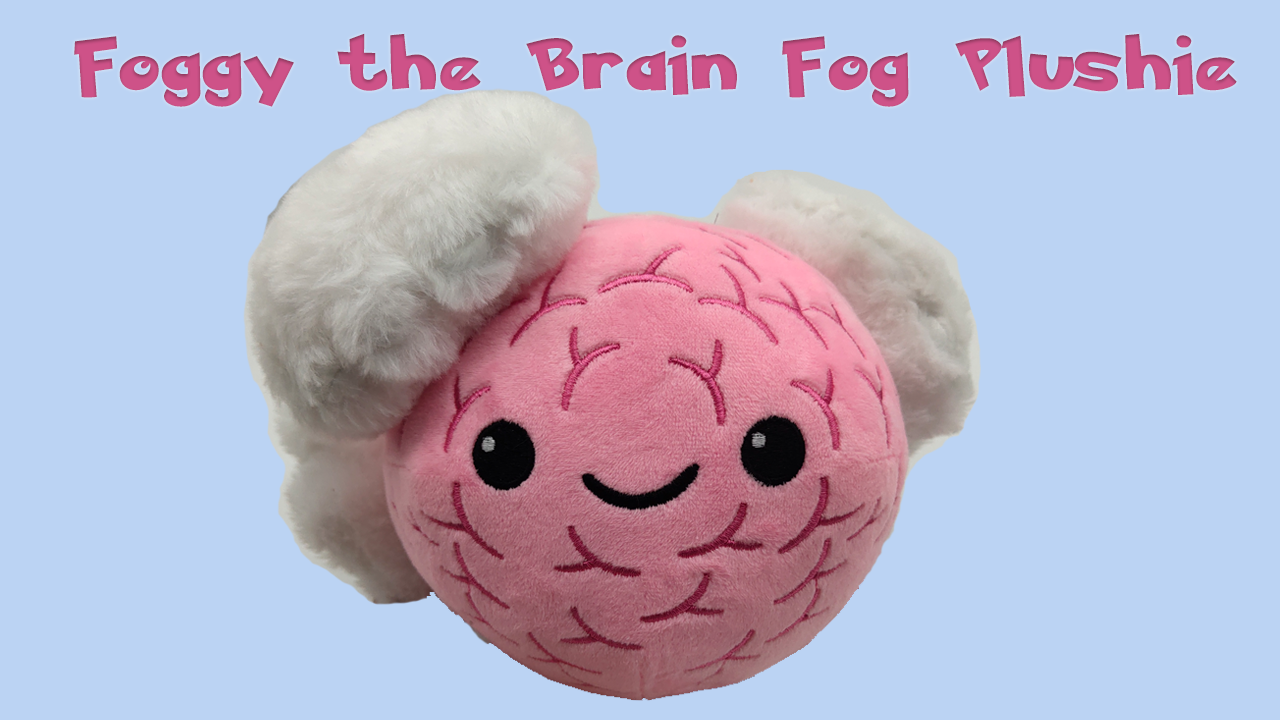 Foggy the brain fog plushie