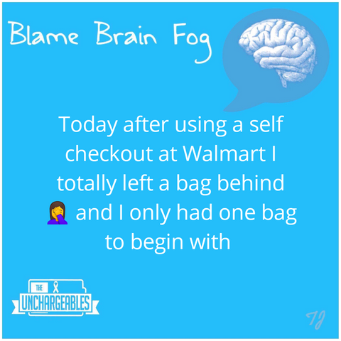 Brain Fog meme left the groceries in the shop