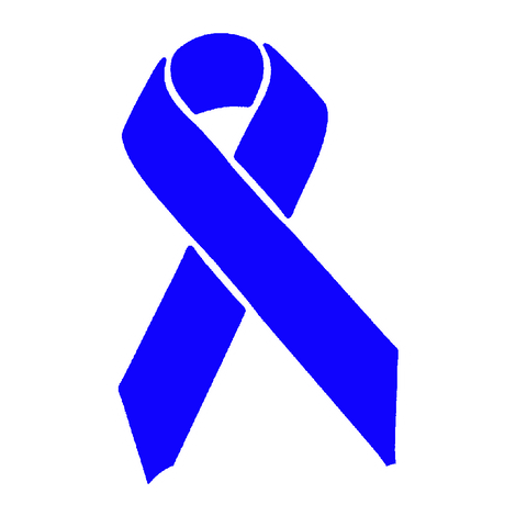Blue Awareness Ribbon Sticker