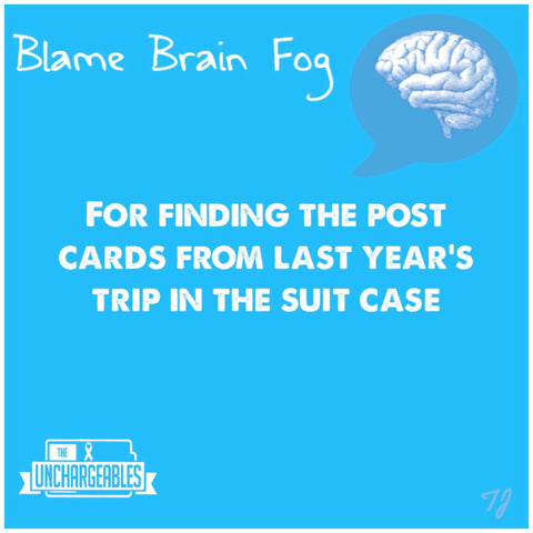 Brain Fog meme forgot to send the cards