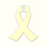 cream awareness ribbon