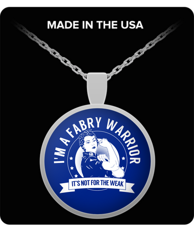 Fabry Disease Warrior NFTW Necklace