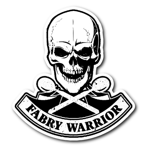 Fabry Warrior Skull Sticker