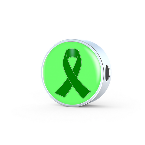 Green Awareness Ribbon Charm Only