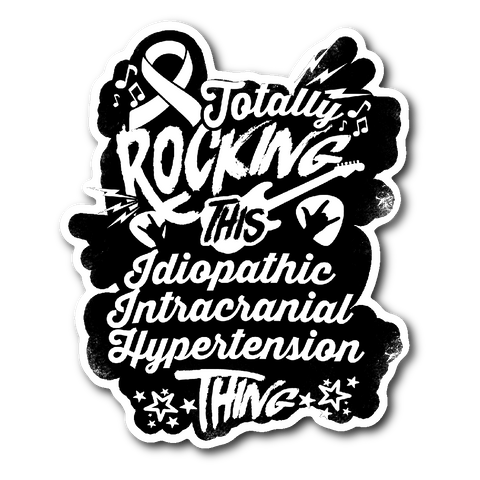 Rocking Idiopathic Intracranial Hypertension Sticker