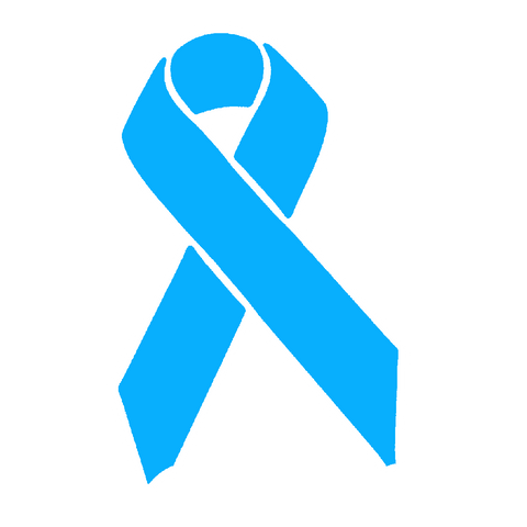 Light Blue Awareness Ribbon Sticker