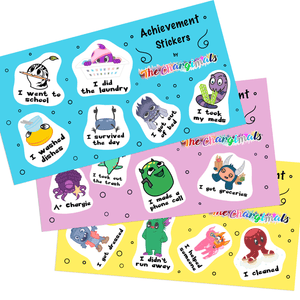 Achievement Stickers by The Chargimals