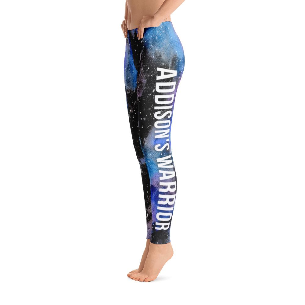 Addison's Disease - Addison's Warrior NFTW Black Galaxy Leggings - The Unchargeables