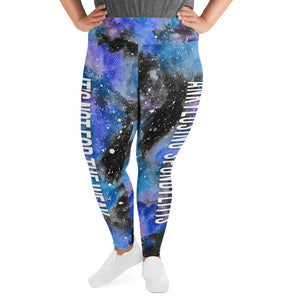 Ankylosing Spondylitis - AS NFTW Black Galaxy Plus Size Leggings