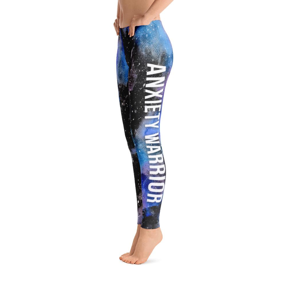 Anxiety Warrior NFTW Black Galaxy Leggings - The Unchargeables