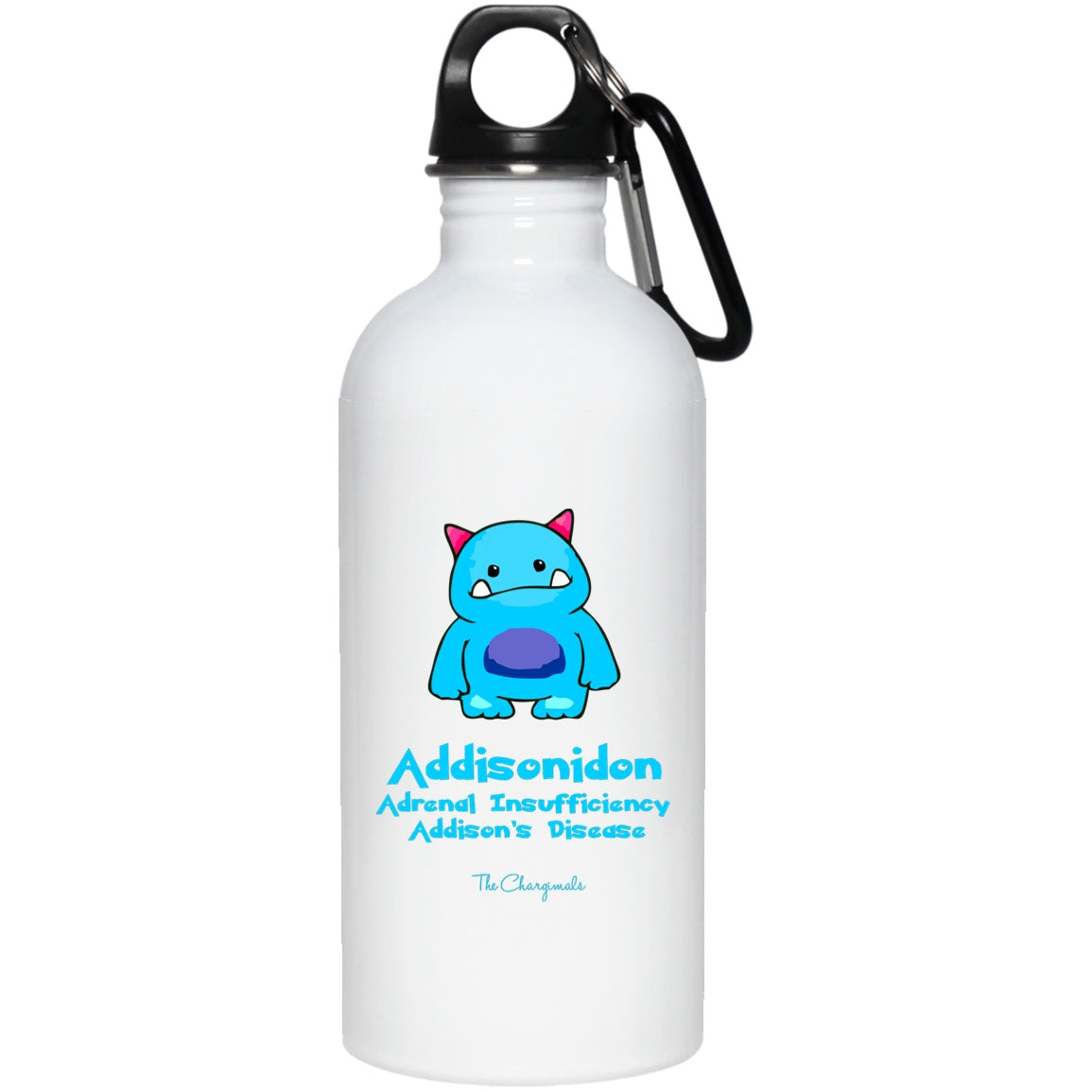 Addi The Adrenal Insufficiency and Addisons Monster Mug, Travel Mug And Water Bottle - The Unchargeables