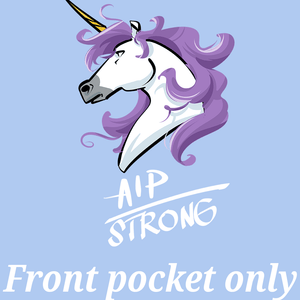 AIP Strong Unicorn Shirts and Hoodie (Front pocket only)
