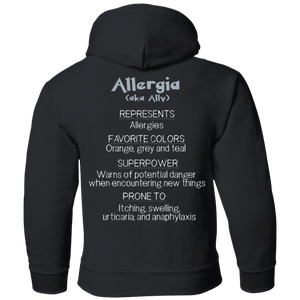 Apparel - Ally The Allergy Monster Youth And Kids Shirts And Hoodies