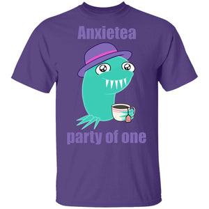 Anxietea Party Of One Shirts, Tank And Hoodie