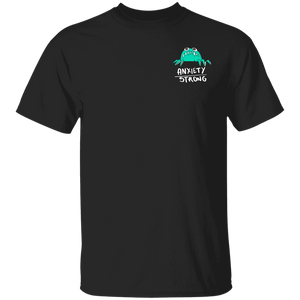 Anxiety Strong Shirts With Anxiety Monster (Front pocket only) - The Unchargeables