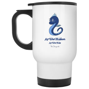 Archy the Arthritis Monster Mug, Travel Mug And Water Bottle - The Unchargeables