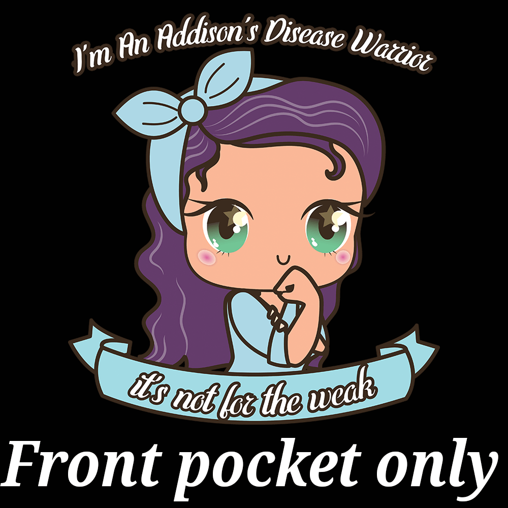 Cute Addison's Disease Warrior Warm Skintone Shirts and Hoodie (Front pocket only) - The Unchargeables