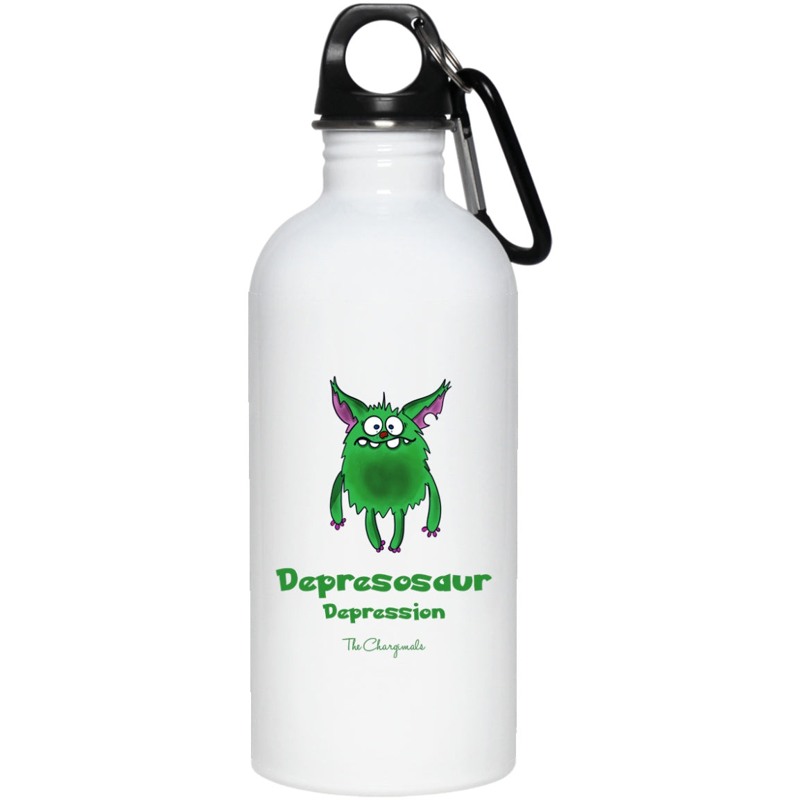 D the Depression Monster Mug, Travel Mug And Water Bottle - The Unchargeables