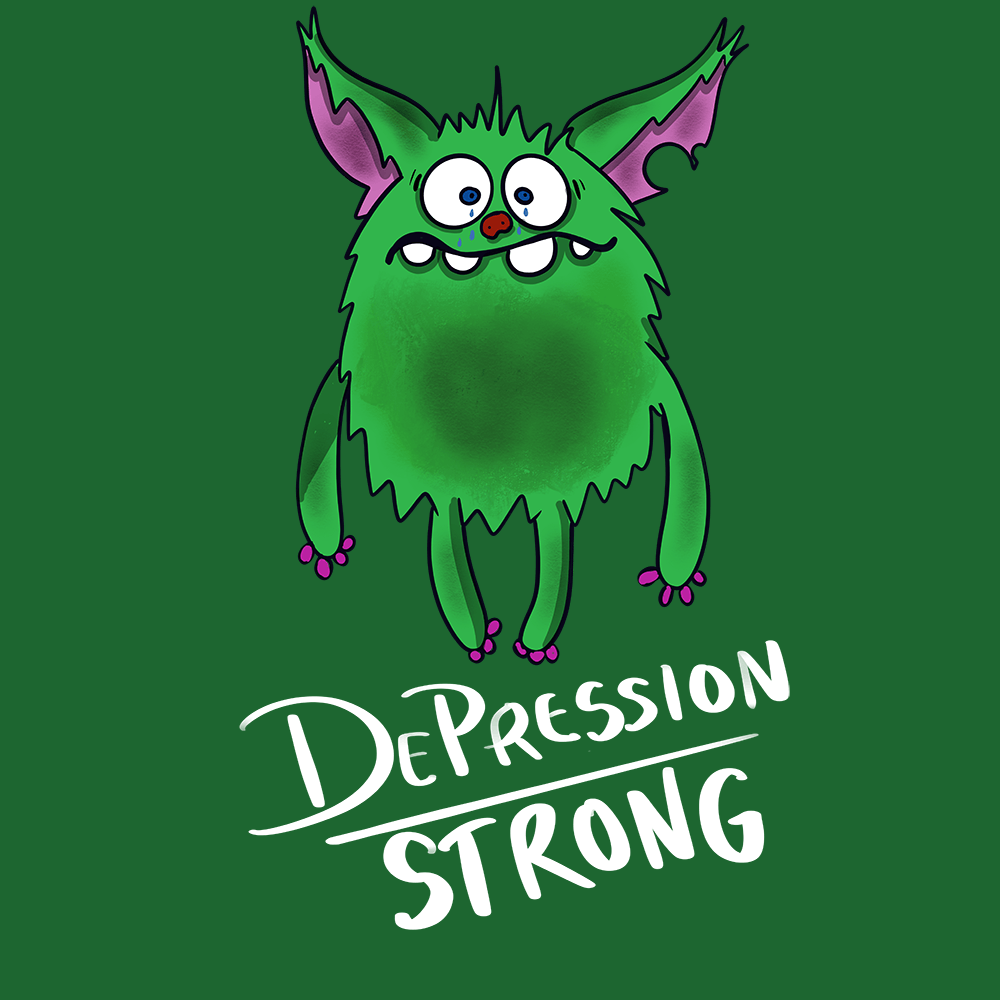 Depression Strong Hoodies And Sweatshirts With Depression Chargimal (Front pocket only) - The Unchargeables