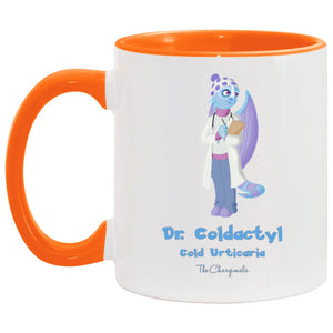 Dr Fria the Cold Urticaria Monster Mug, Travel Mug And Water Bottle - The Unchargeables
