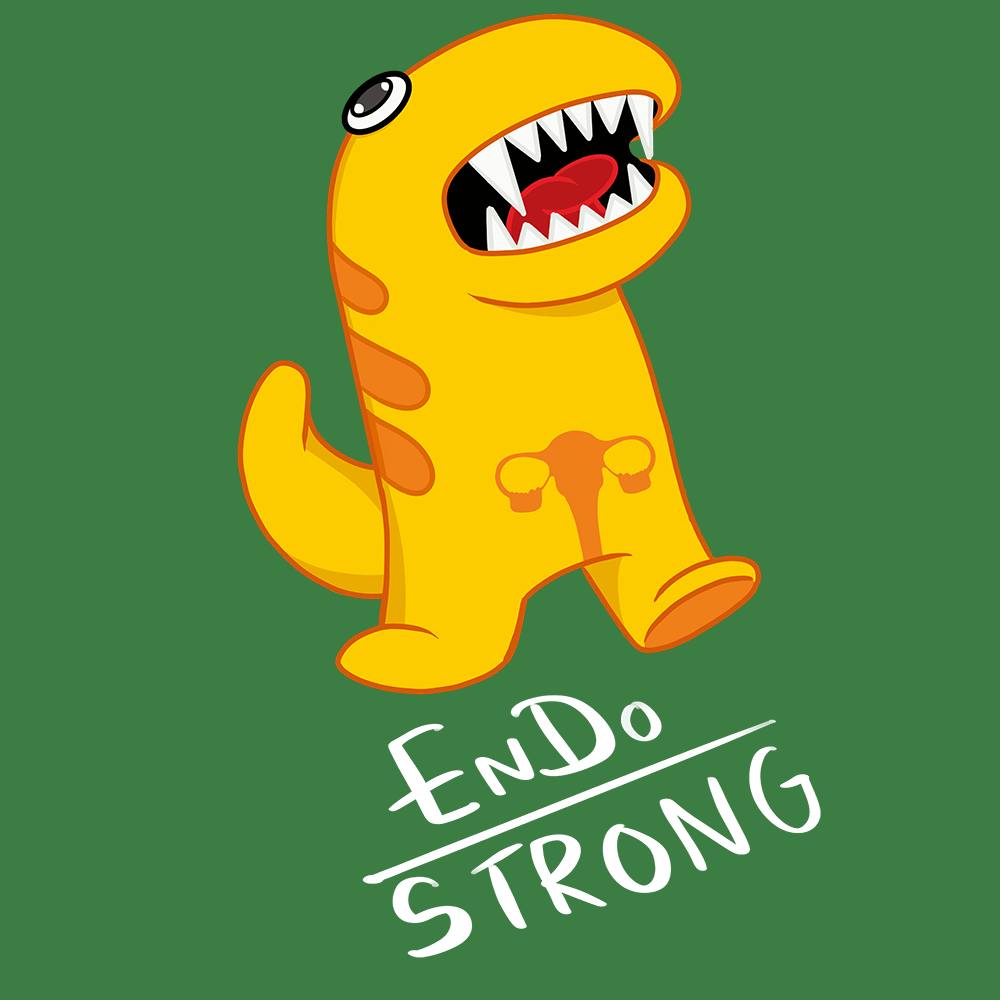 Endo Strong Shirts With Endometriosis Monster (Front pocket only) - The Unchargeables