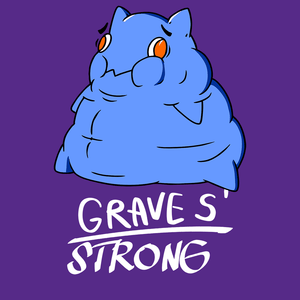 Graves' Strong Shirts With Graves Disease Monster (Front pocket only)