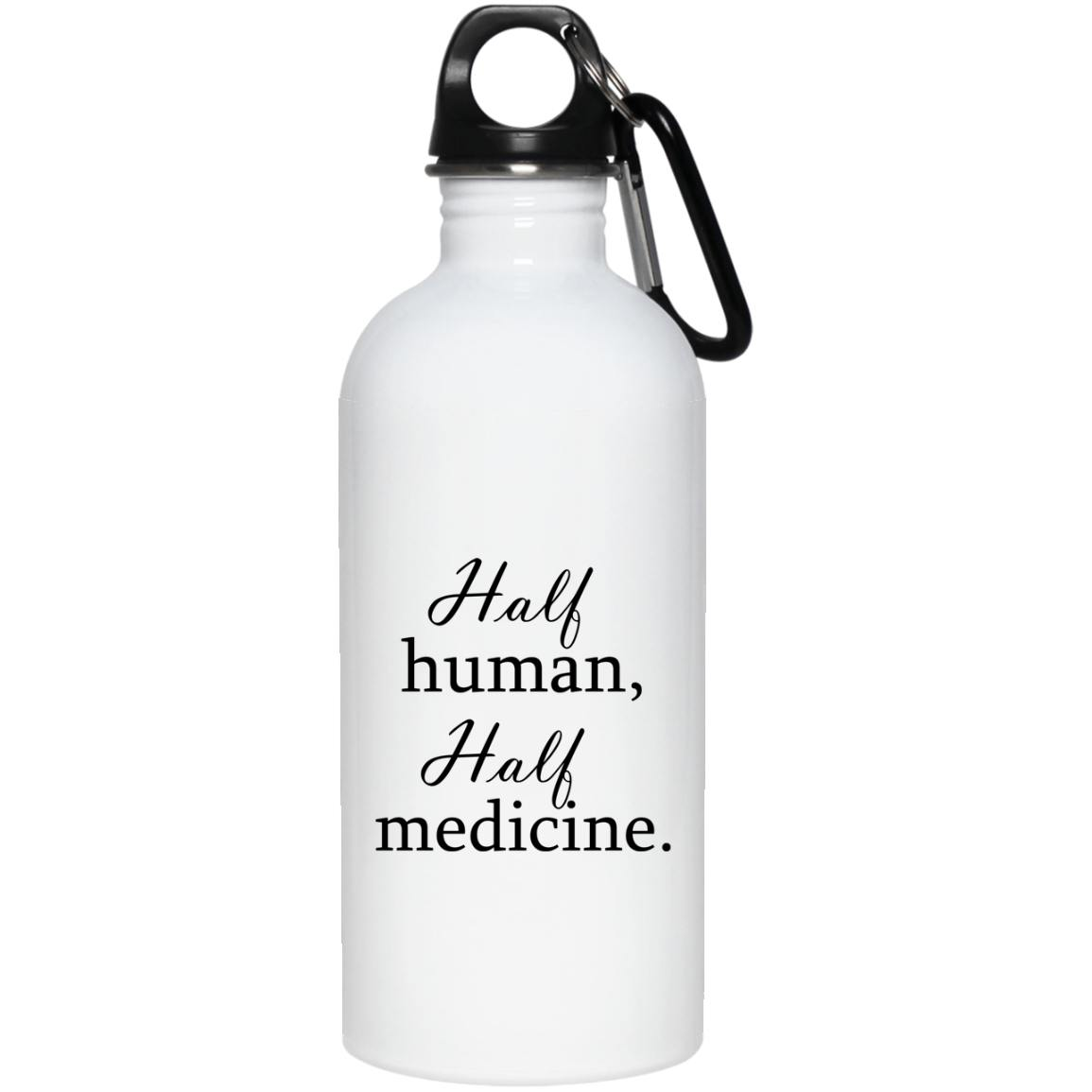 Half human Half Medicine Mug, Travel Mug And Water Bottle