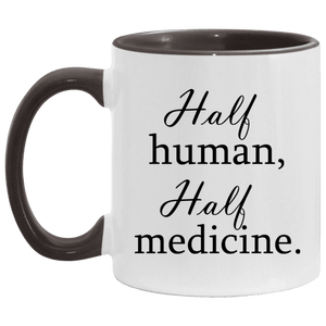 Half human Half Medicine Mug, Travel Mug And Water Bottle - The Unchargeables