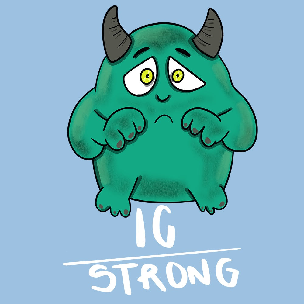 IC Strong Shirts With Interstitial Cystitis Monster (Front pocket only) - The Unchargeables