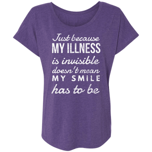 Invisible Illness Visible Smile Shirts, Tank And Hoodie - The Unchargeables