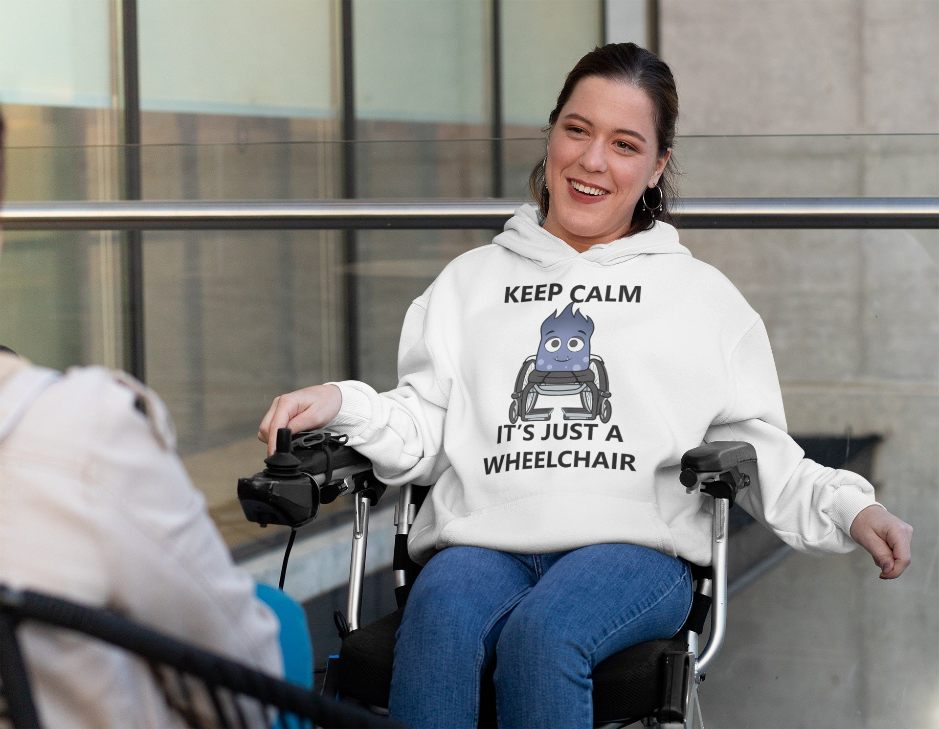 Keep Calm It's Just A Wheelchair Mya Shirts, Tank And Hoodie