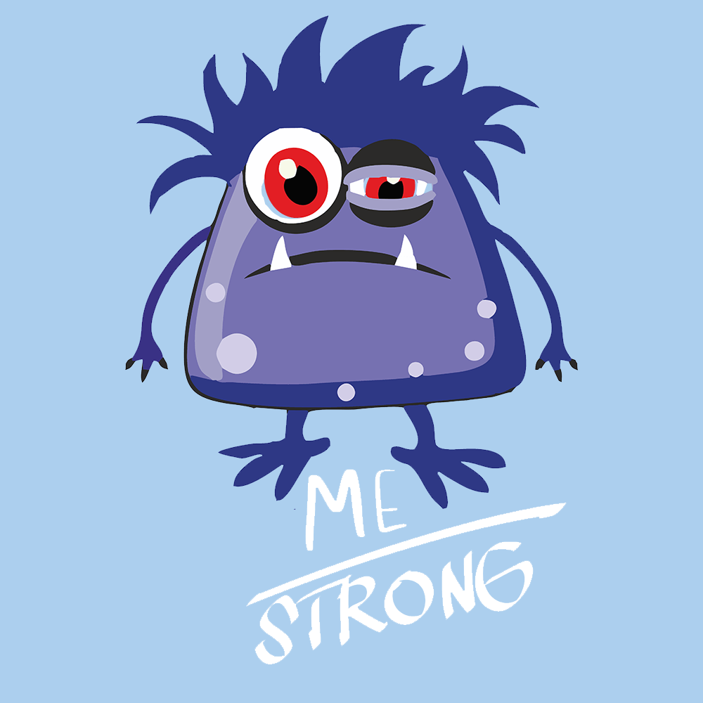 ME Strong Shirts With Myalgic Encephalomyelitis Monster (Front pocket only) - The Unchargeables