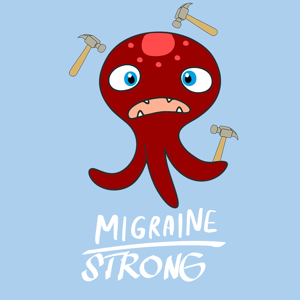 Migraine Strong Shirts With The Migraine Monster (Front pocket only) - The Unchargeables