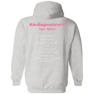 Missy the Misdiagnosis Monster Shirts and a Hoodie