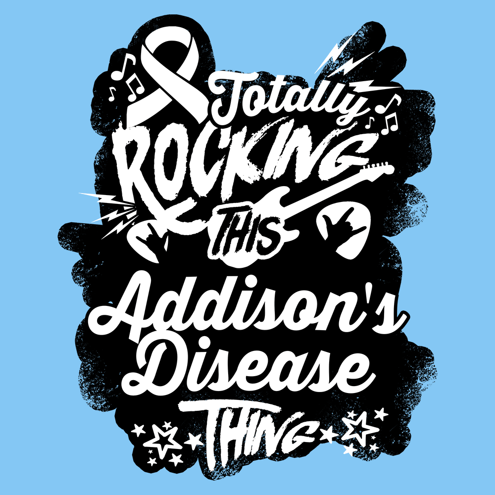 Rocking Addison's Disease Shirts, Tank And Hoodie - The Unchargeables