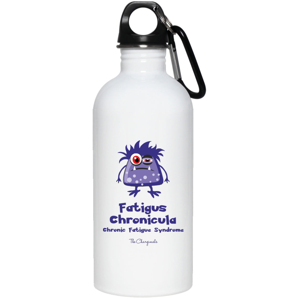Sleepy the Chronic Fatigue Syndrome Monster Mug, Travel Mug And Water Bottle - The Unchargeables