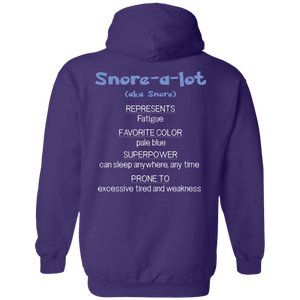 Snore the Fatigue Monster Shirts and a Hoodie - The Unchargeables