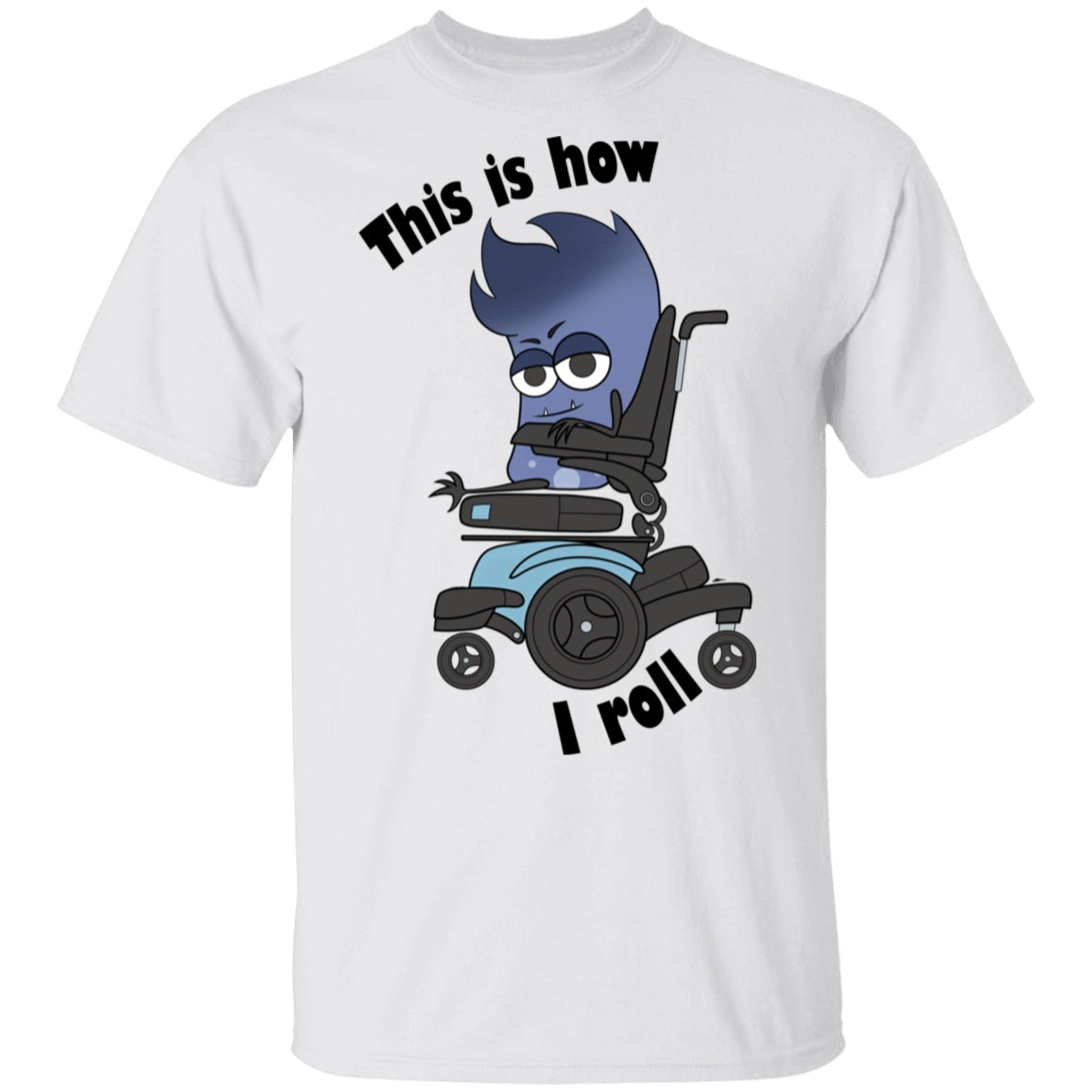 This Is How I Roll Mya Power Wheelchair	 Shirts, Tank And Hoodie