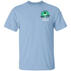 TN Strong Shirts With The Trigeminal Neuralgia Monster (Front pocket only) - The Unchargeables