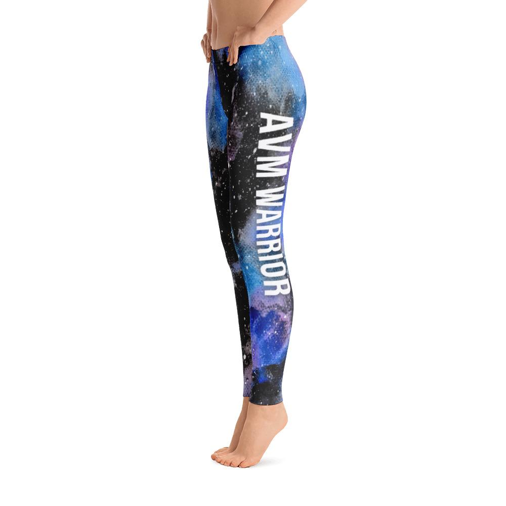 Arteriovenous Malformation - AVM Warrior NFTW Black Galaxy Leggings - The Unchargeables