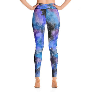 Arteriovenous Malformation - AVM Warrior NFTW Black Galaxy Yoga Leggings With Pockets