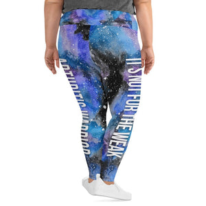 Arthritis Warrior Black Galaxy Plus Size Leggings