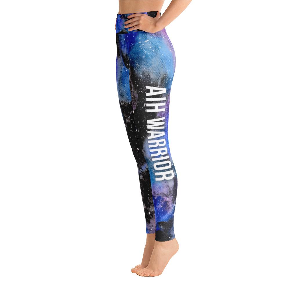 Autoimmune Hepatitis - AIH Warrior NFTW Black Galaxy Yoga Leggings With High Waist and Coin Pocket - The Unchargeables