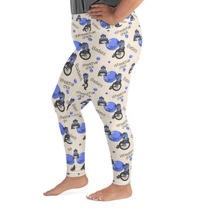 Badass Wheelchair Chick Mya Plus Size Leggings