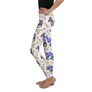 Badass Wheelchair Chick Mya Youth Leggings - The Unchargeables