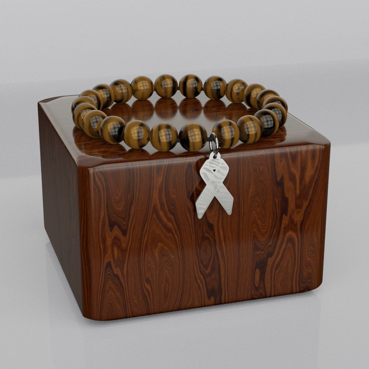Zebra Awareness Ribbon Beads Bracelet - The Unchargeables