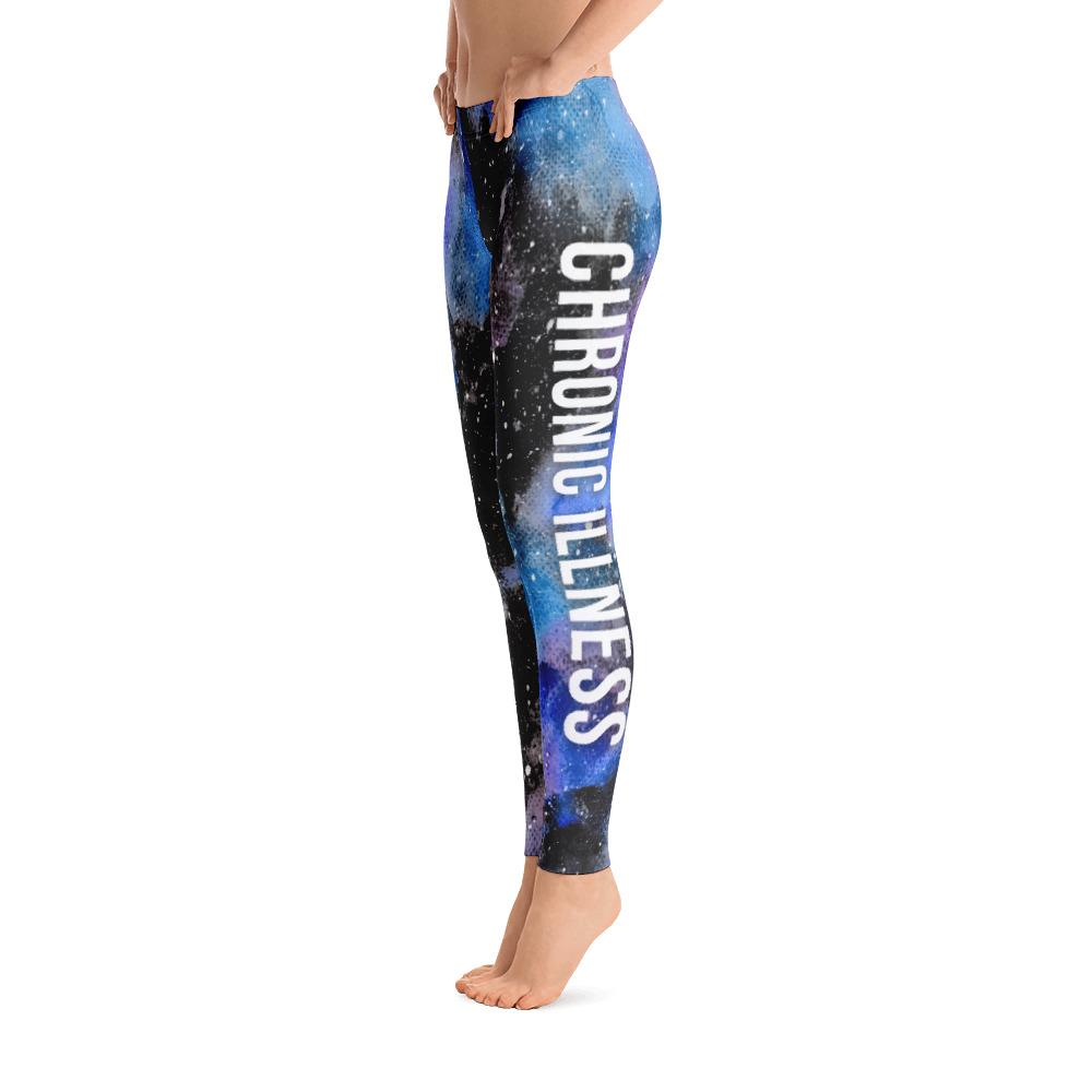 Chronic Illness Warrior NFTW Black Galaxy Leggings - The Unchargeables