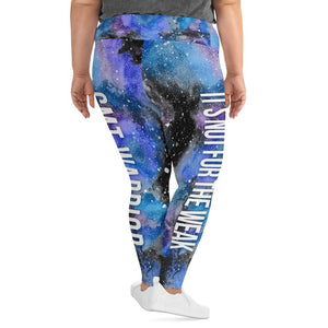 CMT Warrior NFTW Black Galaxy Plus Size Leggings